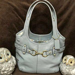 EUC Coach Baby Blue Supple Leather Bag Z17208